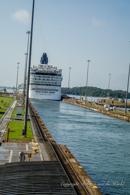 Visiting the Panama Canal means you can see the amazing engineering feat in person