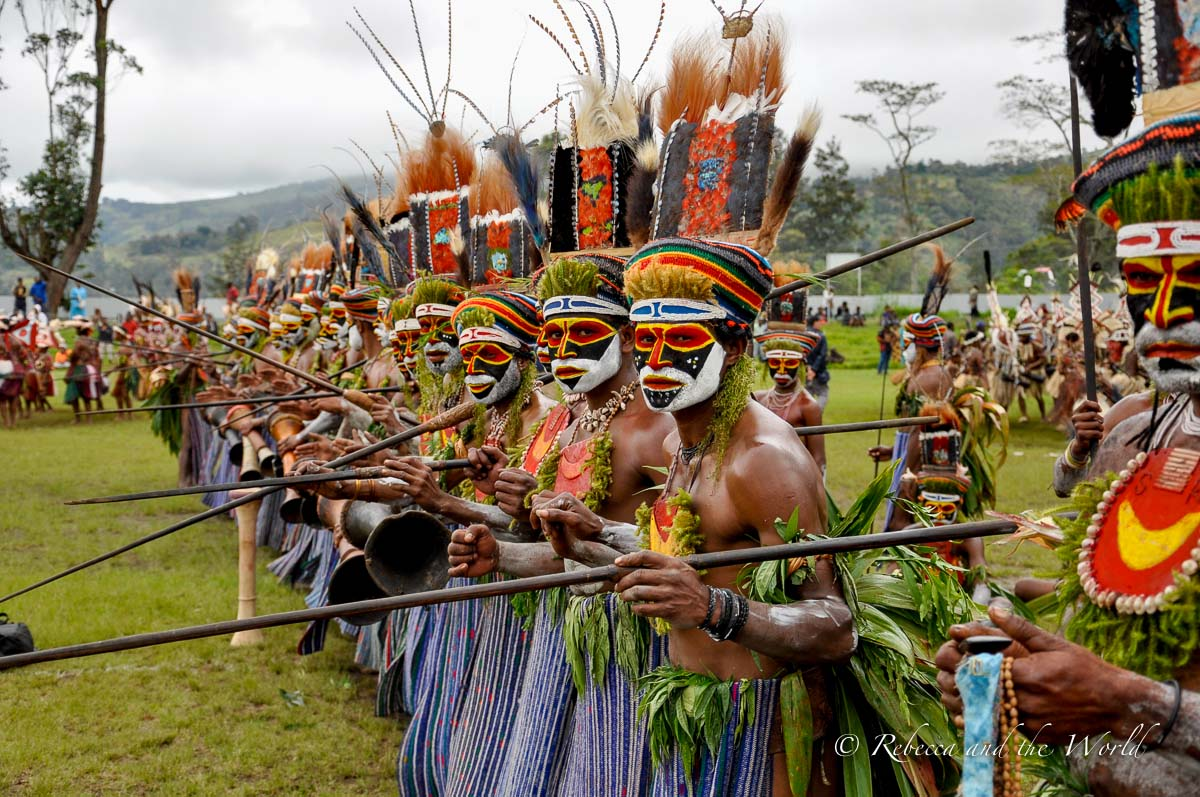 The variety of costumes at festivals in PNG is staggering - and so colourful