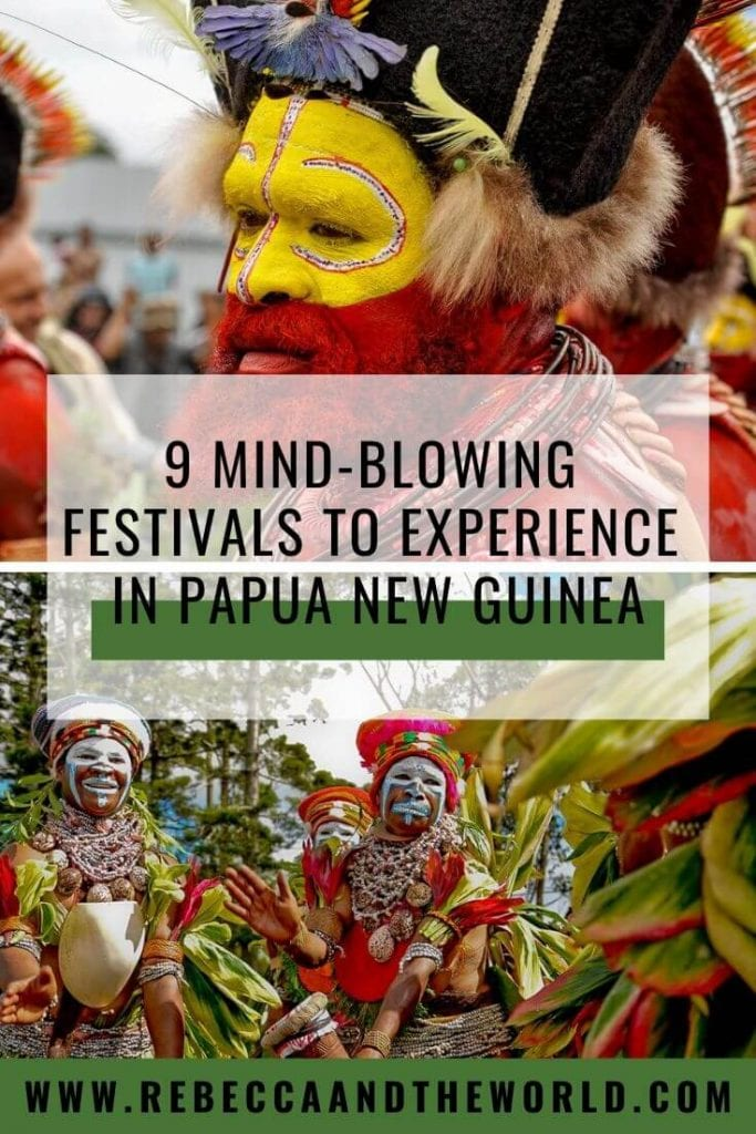 Looking for something off the beaten path? Intrepid travellers will have an amazing experience at one of these 9 mind-blowing Papua New Guinea festivals. Click through to learn more about PNG culture and how to attend the festivals. | #papuanewguinea #png #oceania #pngculture #gorokashow #hirimoale #hagenshow