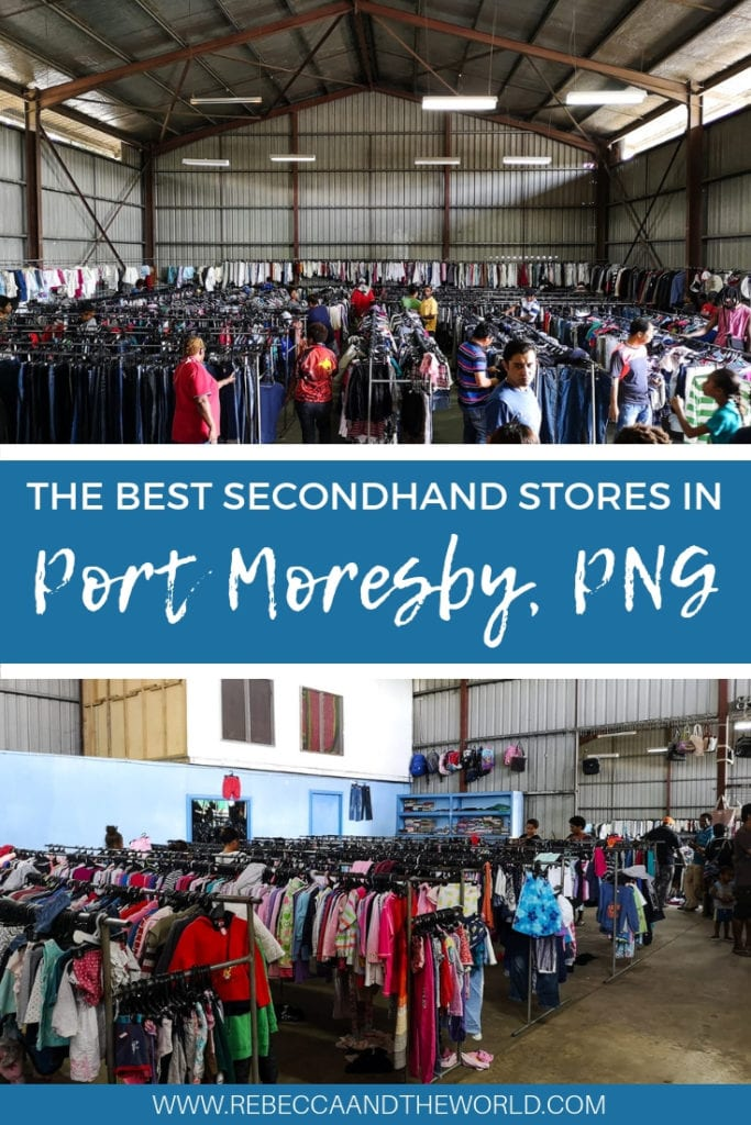 Shopping in Port Moresby, Papua New Guinea, doesn't compare to Paris, New York or London, but if you look closely you can find some great bargains. The second hand shops in Port Moresby often have designer labels for cheap prices - you just have to look hard. This guide highlights the best secondhand shops in Port Moresby. | #png #papuanewguinea #portmoresby #secondhandshopping