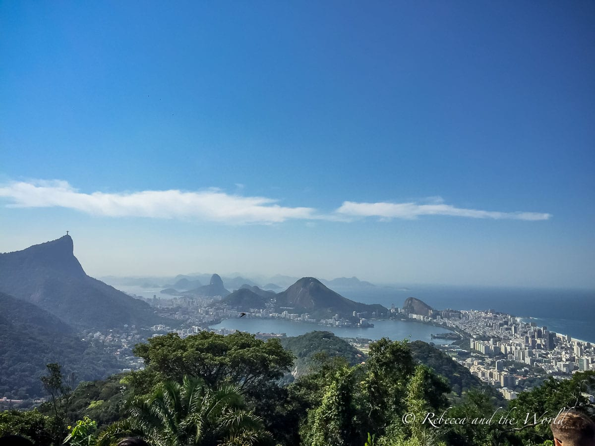 There are great panoramas of Rio de Janeiro from the world's largest urban rainforest, Parque Nacional da Tujica