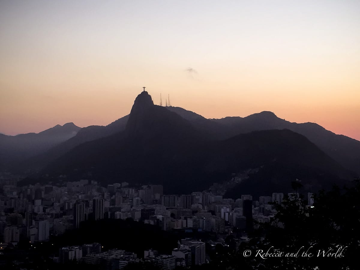 The view from Sugarloaf Mountain in Rio de Janeiro is a great place to watch the sunset