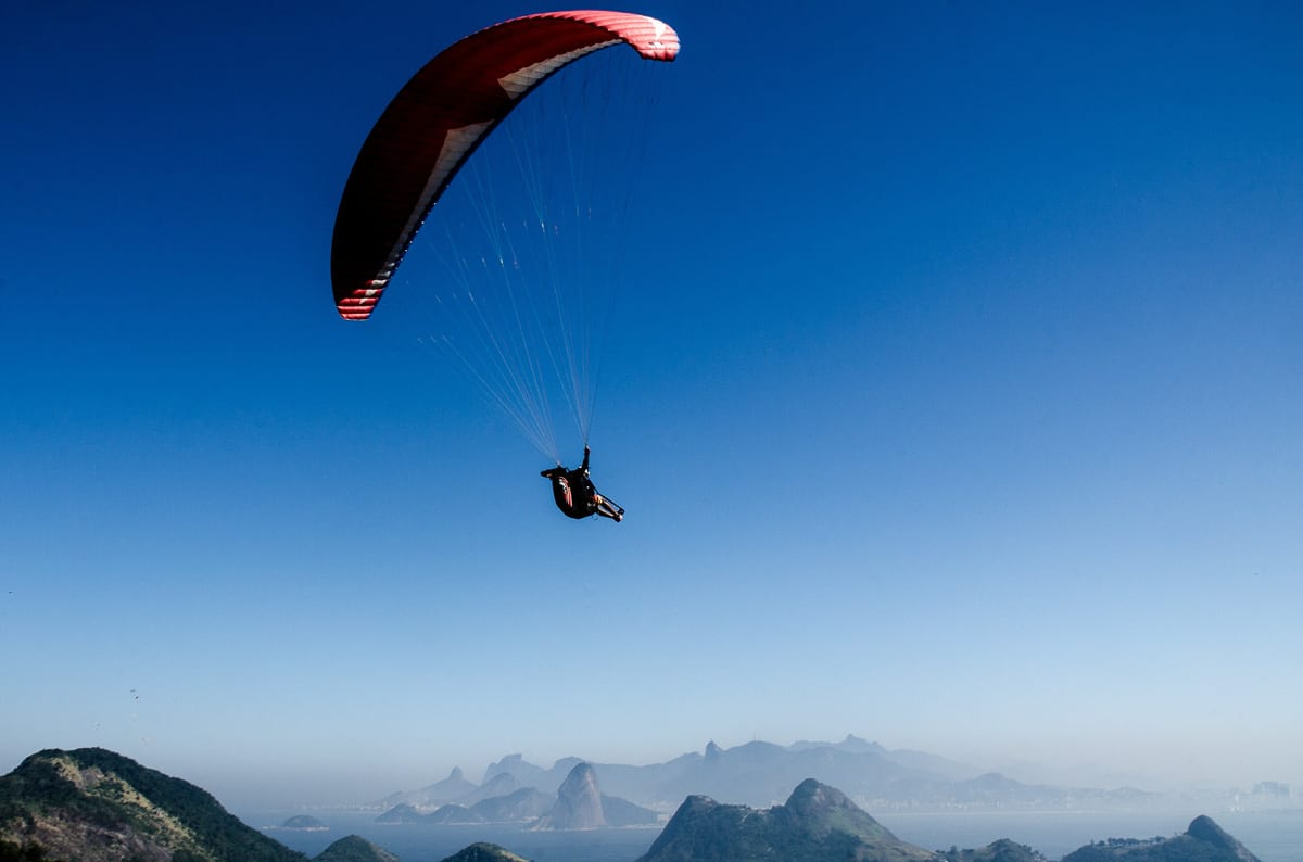 Paragliding is a popular thing to do in Rio de Janeiro