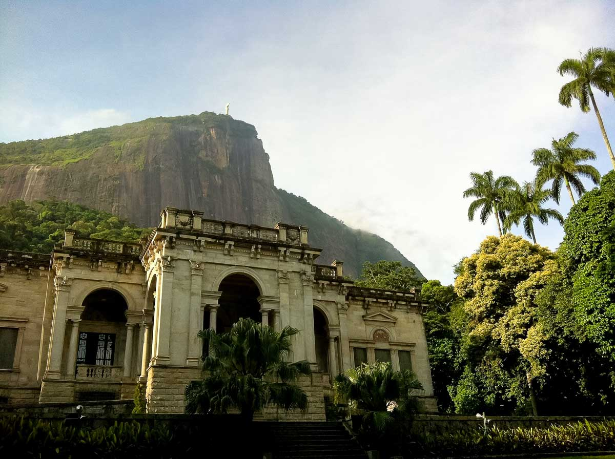 Parque Lage is a photogenic public park in Rio de Janeiro, with an old mansion