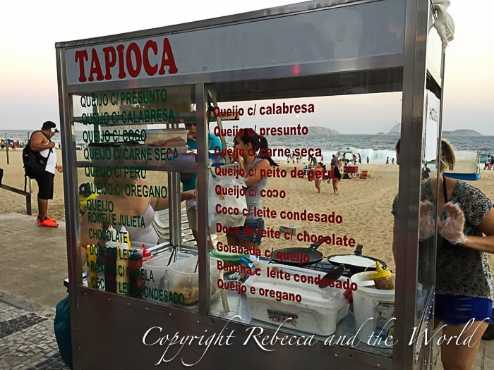 Tapioca cooked fresh on the beach