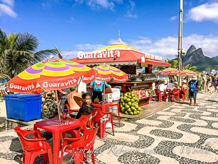 One of the many beachside bars in Ipanema