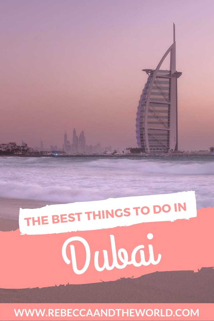 Looking for fun things to do in Dubai? Read on for a list of the best things to do in this intoxicating, vibrant city to add to your Dubai itinerary. From desert safaris to dining on the water to skiing (yes, really!), this guide will help you decide what to do in Dubai. | #dubai #thingstodoindubai #dubaitravel #uae #unitedarabemirates #middleeasttravel