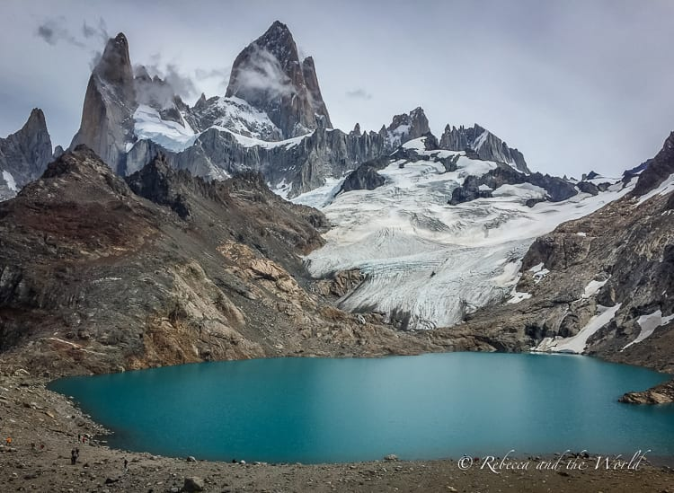 The lure of El Chalten's hiking trails draw trekkers from all around the world. Located in Argentine Patagonia, this small town is perfect for whiling away a few days and getting adventurous. Just don't get lost on one of the El Chalten hiking trails! Read on for what to expect, how to get to El Chalten and where to stay. | #argentina #patagonia #elchalten #elchaltenthingstodo #elchaltenhiking #elchaltenpatagonia #travelguide #hiking