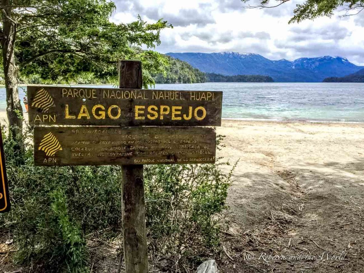Lago Espejo is one of the lakes you can visit while traversing the Ruta de los 7 Lagos in Argentina