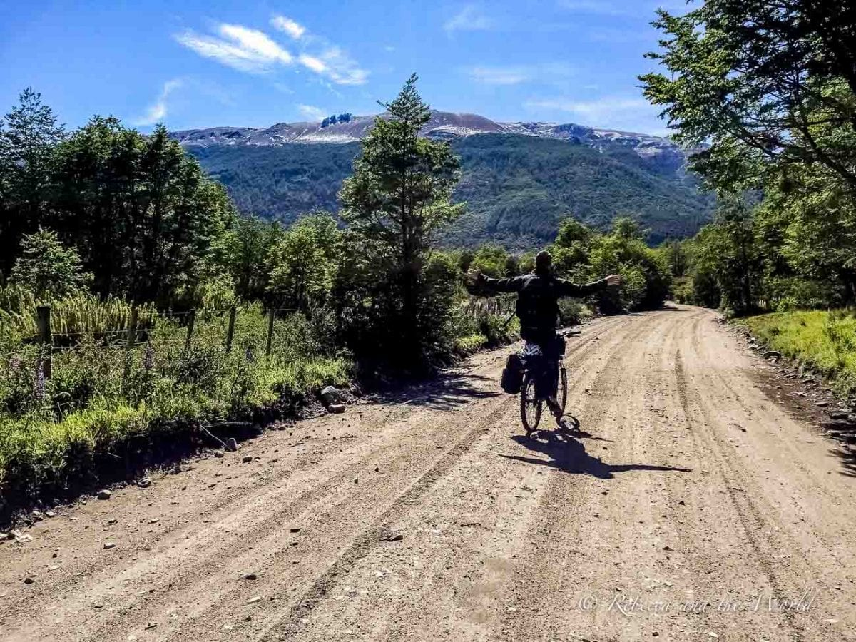 Biking is a great way to visit the 7 Lakes Route in Argentina