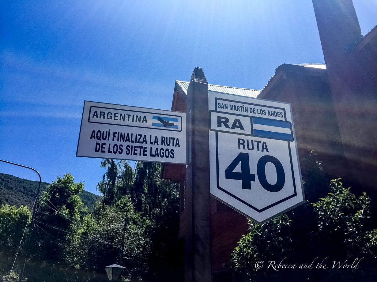 The Ruta de los 7 Lagos is on the famous Ruta 40 in Argentina, the highway that stretches the length of the country