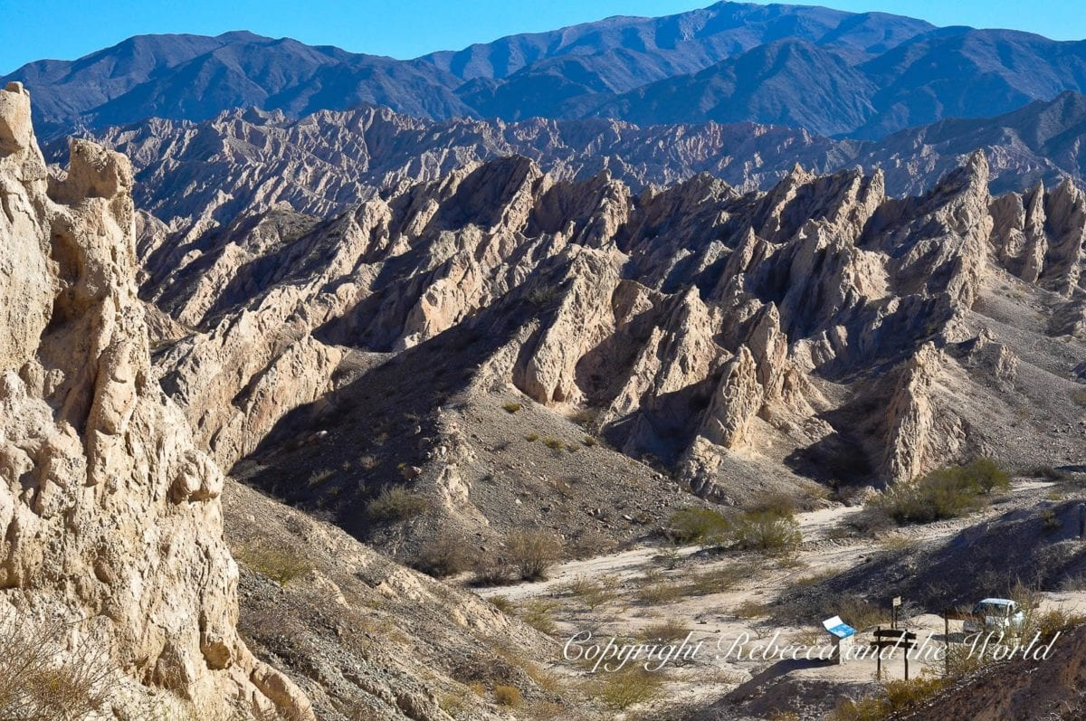 The Quebrada de las Flechas is one of the most out-of-this-world landscapes you'll see on a north Argentina road trip - it resembles quivers of arrows
