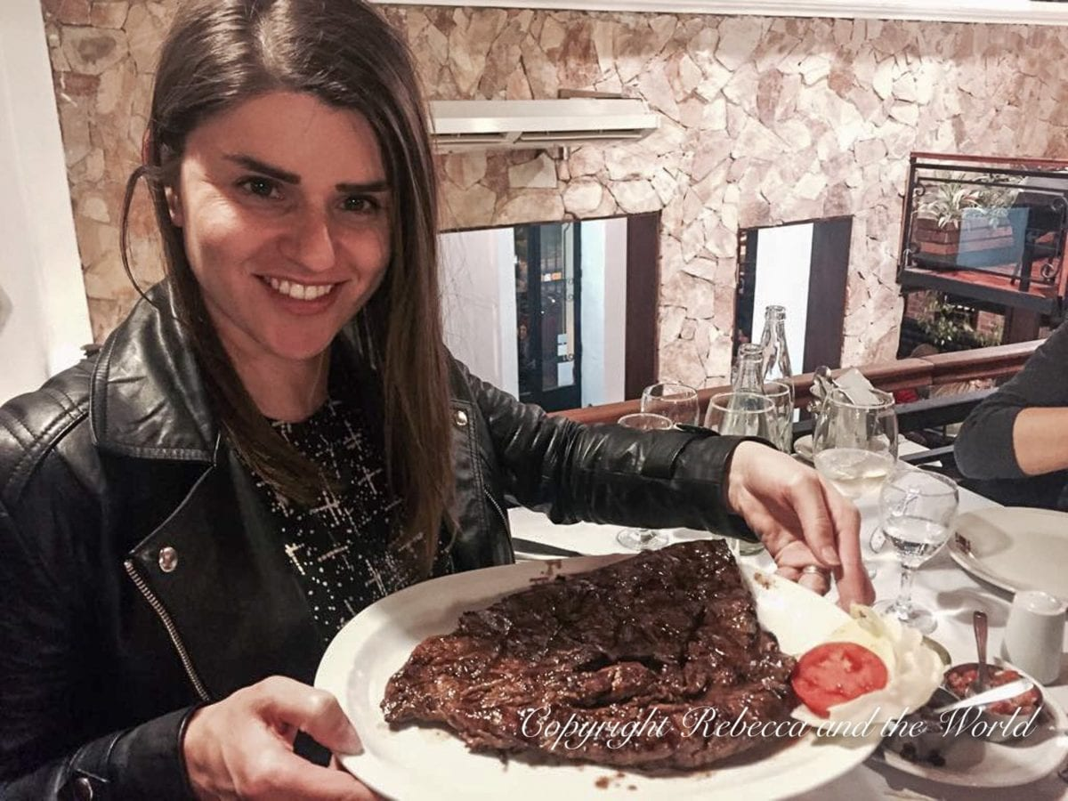 In Salta - like most of Argentina - you can eat steaks the size of your head!