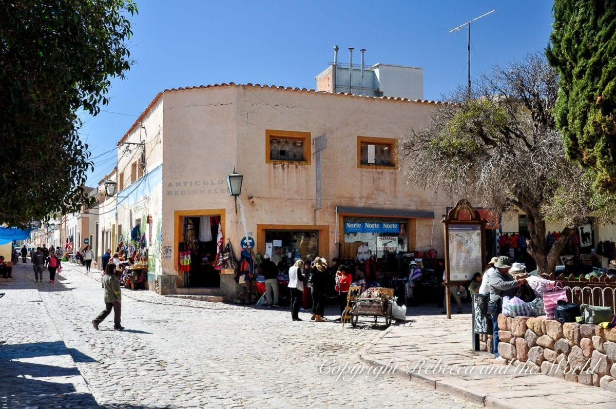 Humahuaca in the north of Argentina is famous for its handcrafted goods