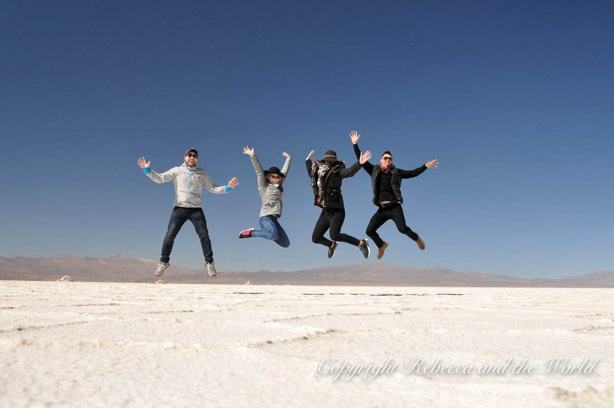 Visit the Salinas Grandes in northwest Argentina - the second-largest salt pan in the world
