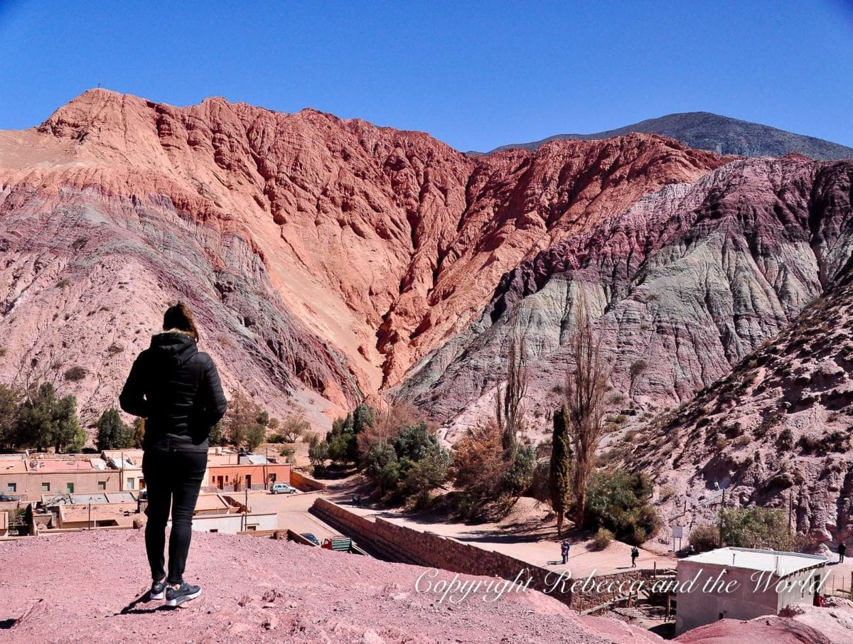 The Cerro de Siete Colores in north Argentina is absolutely beautiful - base yourself in Purmamarca to see it before and after sunset when the colours are at their most rich