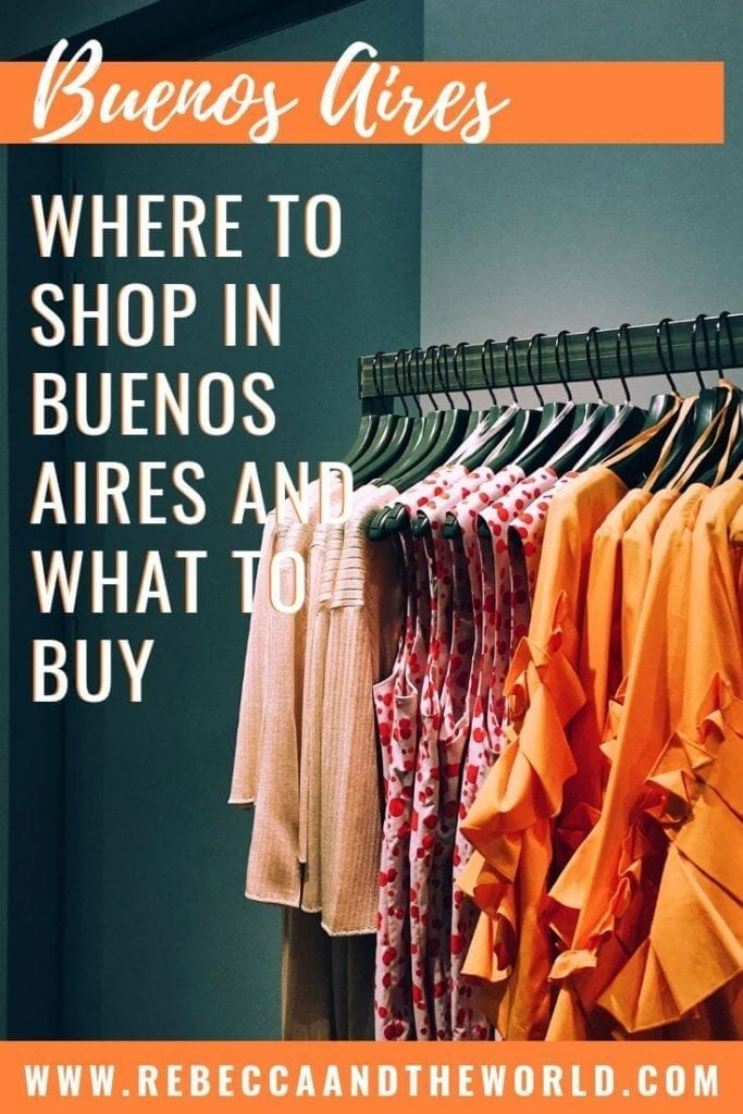 Visiting Buenos Aires and looking for a souvenir to take home? This guide walks you through the best neighbourhoods for shopping in Buenos Aires, what to buy, and the best markets in Buenos Aires. Shopaholics, you're going to love Buenos Aires! | #buenosaires #southamerica #argentina #shopping #leatherjacket #custom #cityguide #souvenirs #wine #shoppinginbuenosaires