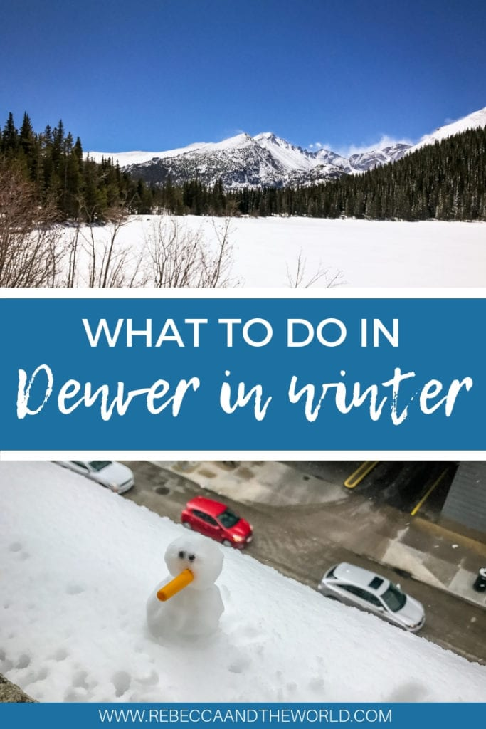 Denver in winter: How to spend 3 days in the Mile High City, snow included! While Denver is a top choice all year round, I was surprised at how much there was to do during winter. This guide walks you through what to do in Denver, where to eat and where to sleep. #denver #colorado #redrocks #rockymountains #denverfood #wheretoeatdenver #whattododenver #thingstododenver #milehighcity