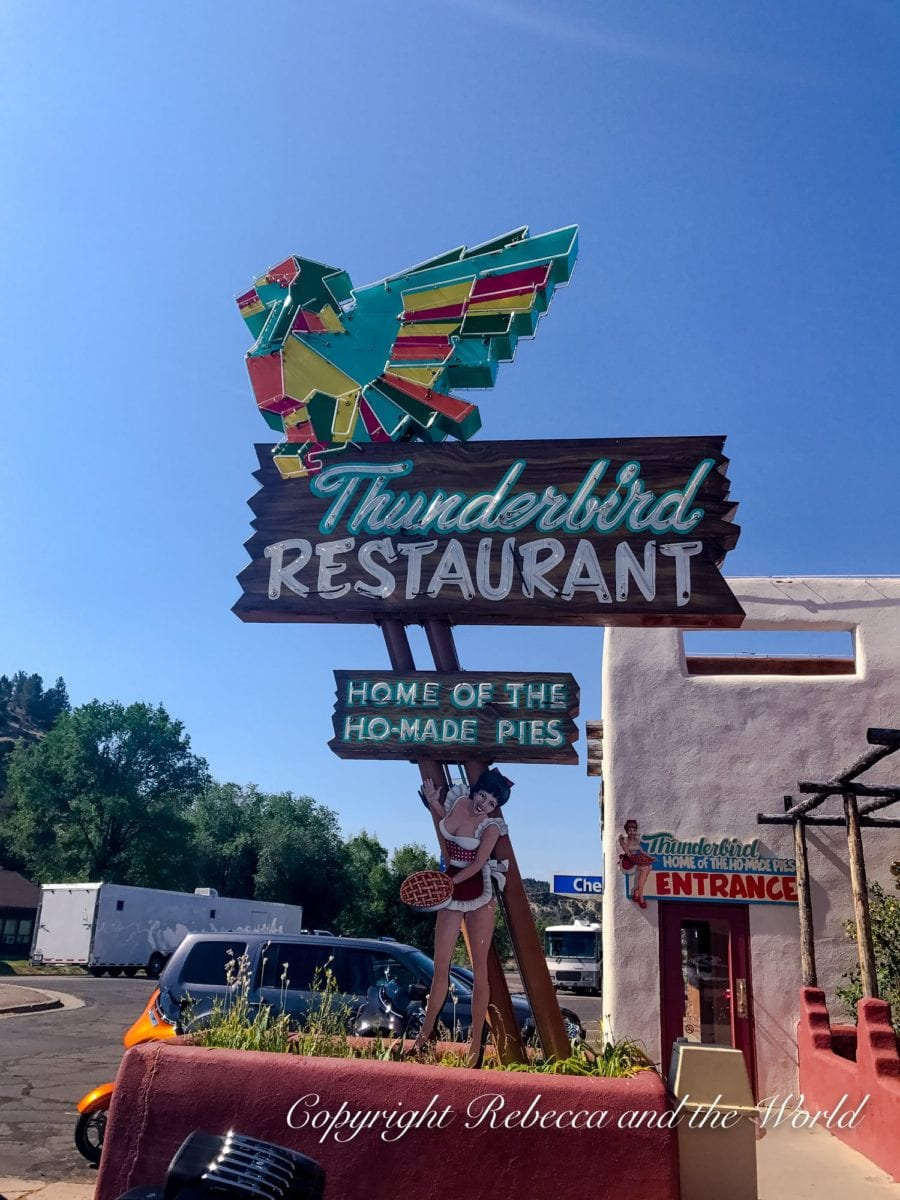 Make sure to stop at Thunderbird restaurant for pie while on a Utah road trip
