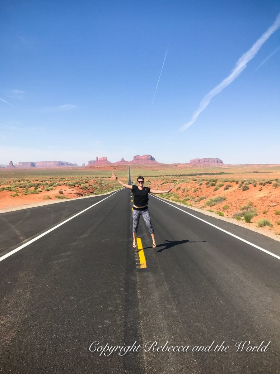"""Take a classic """"jumping photo"""" at Monument Valley!"""
