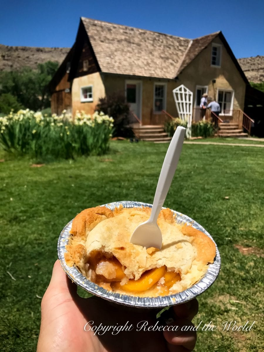 Stop for pie in Capitol Reef National Park, a great last stop on your Utah national parks road trip itinerary!