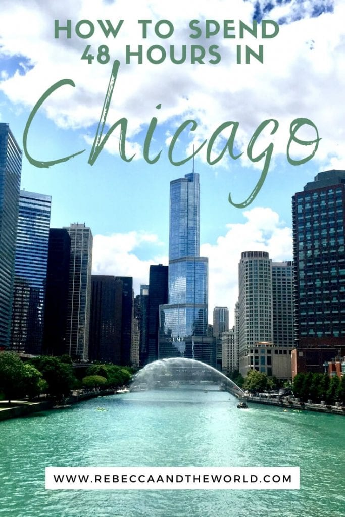 As the USA's 3rd largest city, it's hard to squeeze everything into 48 hours in Chicago - but it is possible with some careful planning. Here's what to do, see and eat on a weekend in Chicago. | #chicago #USAtravel #ChicagoItinerary #ThingsToDoInChicago #WeekendInChicago