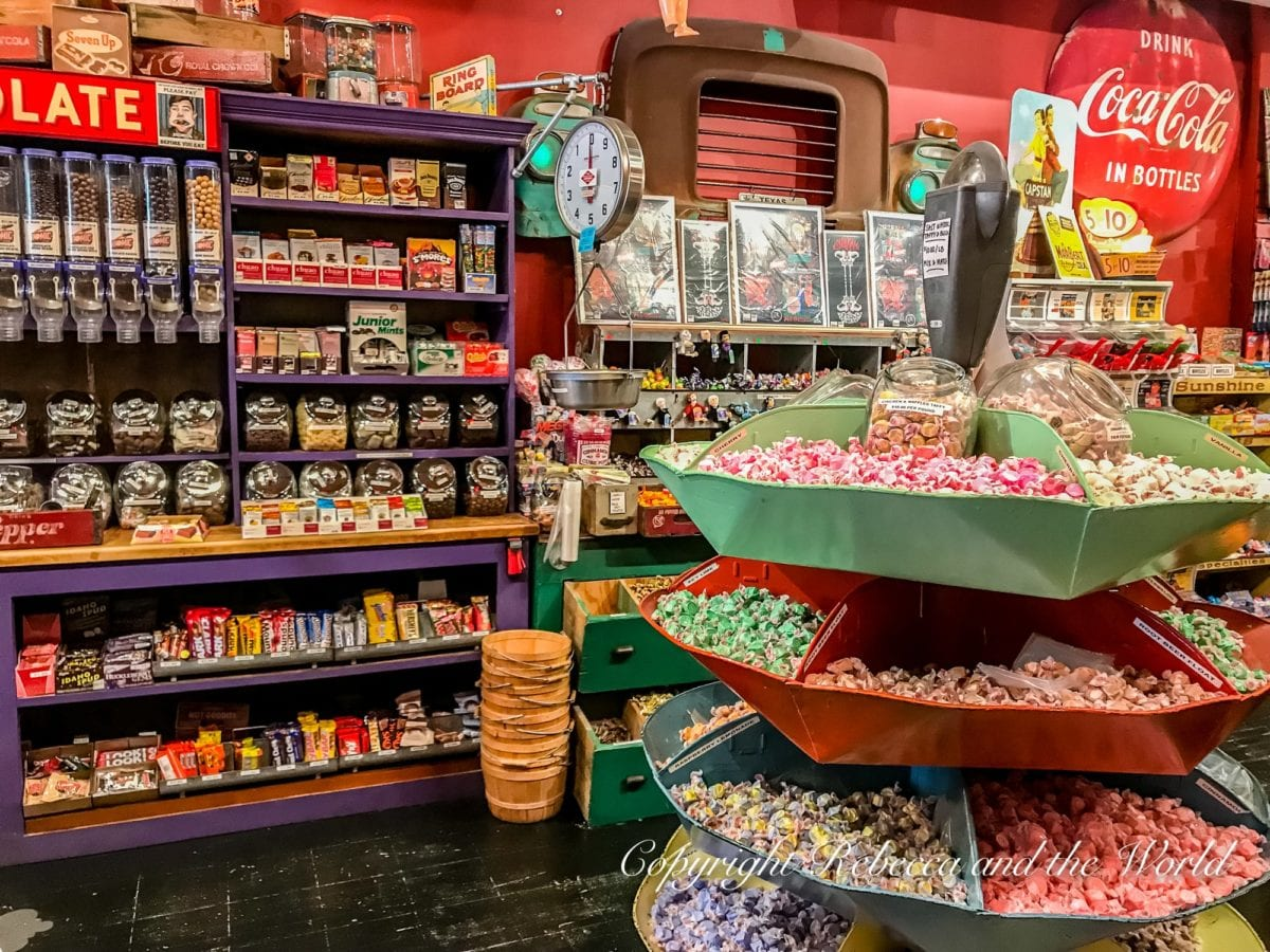 One of the best things to do in Denton, Texas, is purchase some of the more than 300 kinds of candy at Atomic Candy