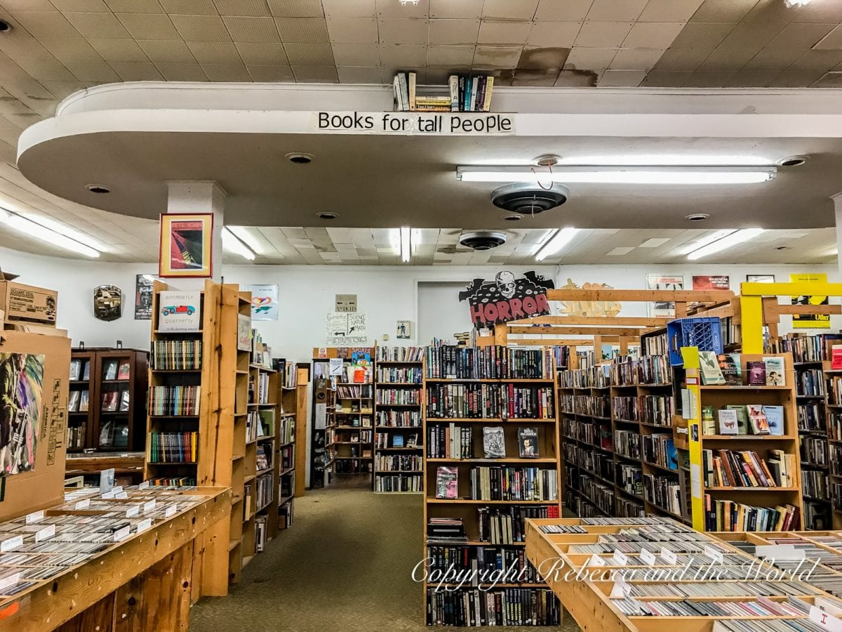 Recycled in Denton Texas is a great store selling books and records - it's a must do in Denton