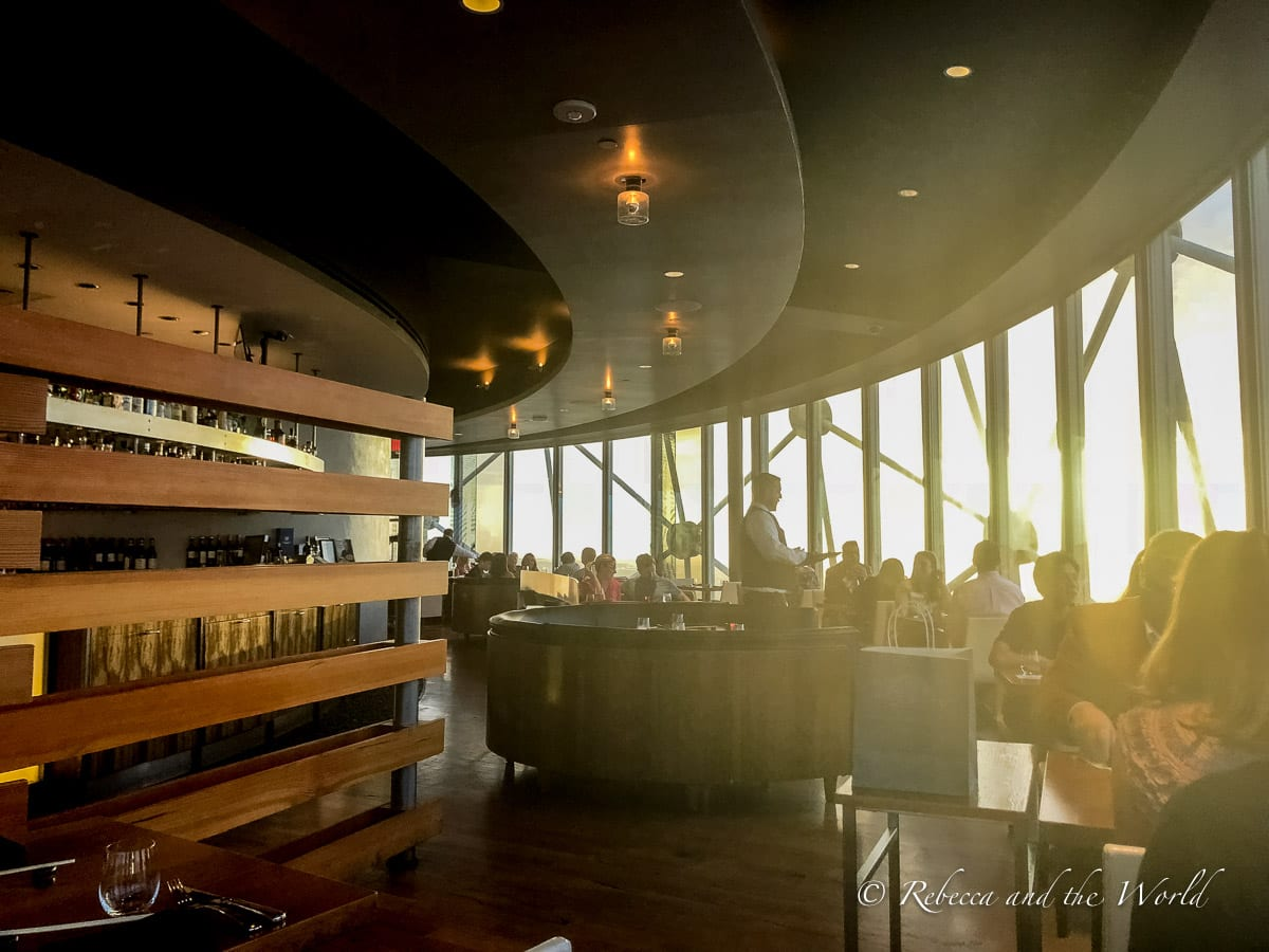 Five Sixty by Wolfgang Puck is one of the best romantic restaurants in Dallas with a view