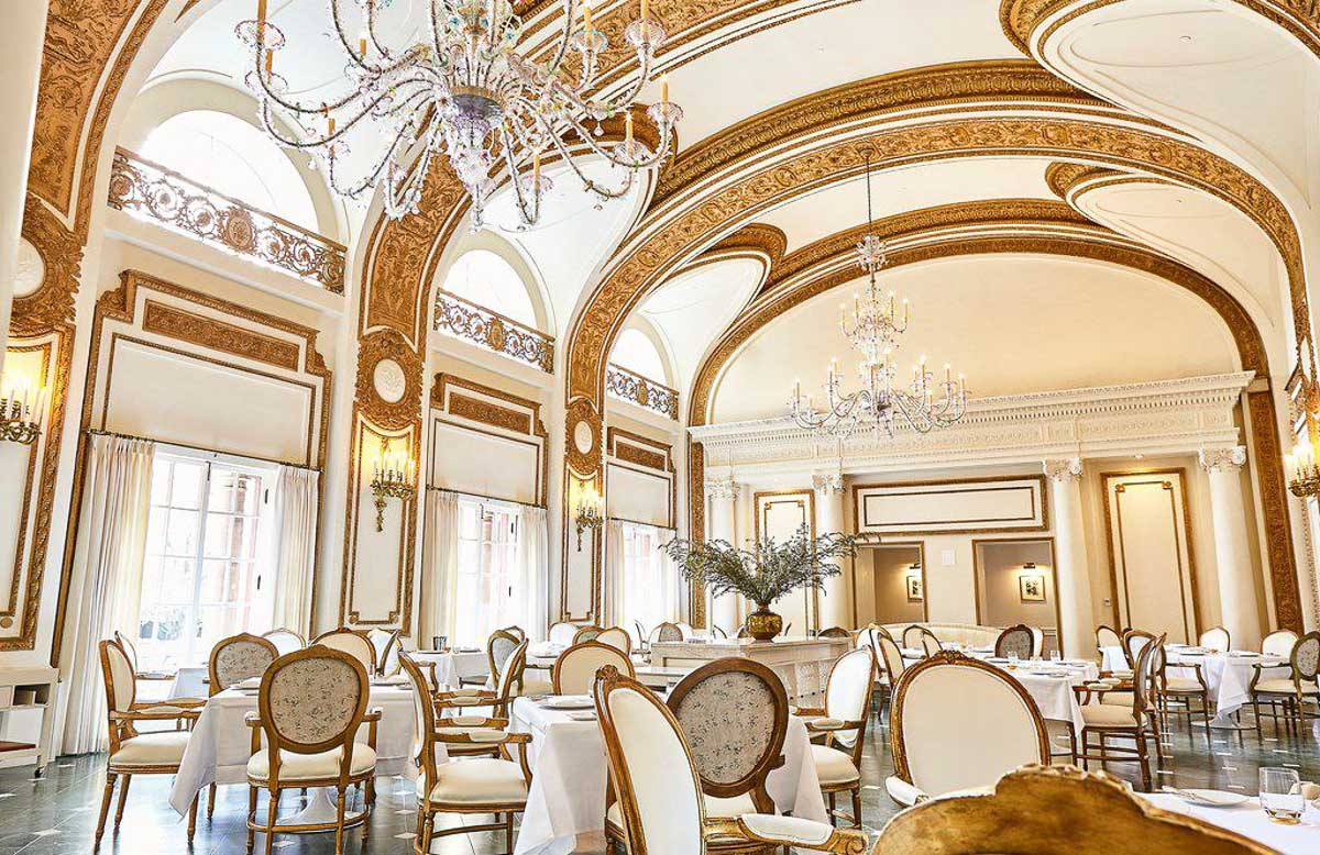 The French Room is one of most romantic restaurants in Dallas - its decor is stunning