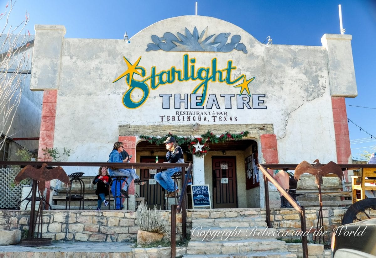 The Starlight Theatre in Terlingua is one of the best places to visit in West Texas on a road trip