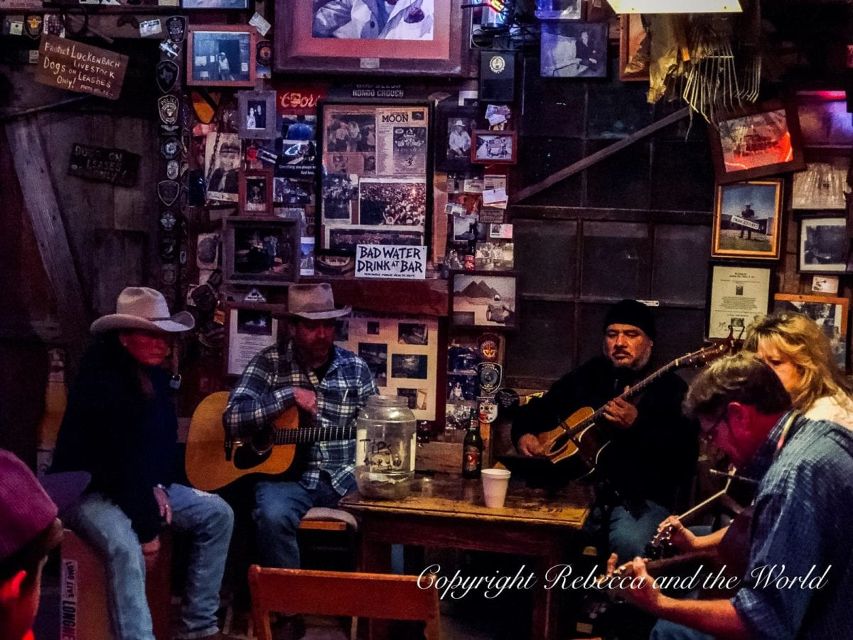 One of the coolest things to do in Fredericksburg, TX, is head to Luckenbach and catch an impromptu jam at the old dance hall