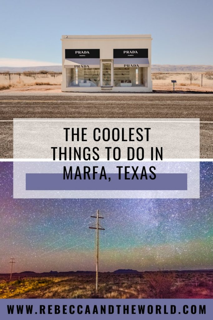 Have you heard of Marfa, Texas? It's one of the coolest and quirkiest towns in Texas! Spend a weekend in Marfa with this guide which shares what to do in Marfa, where to eat and where to stay in Marfa. | #marfa #texas #marfatexas #marfatx #weekendguide #thingstodoinmarfa