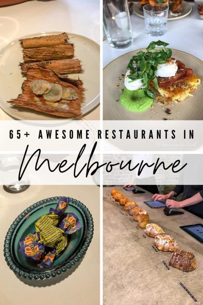 Melbourne, Australia, is one of the world's best foodie destinations. This means both great restaurants but also difficult choices to make about where to eat in Melbourne. This guide - from a local! - lists more than 65 of the best Melbourne restaurants to help you plan your Melbourne itinerary. | #Melbourne #MelbourneAustralia #VisitAustralia #MelbourneItinerary #MelbourneFood #MelbourneRestaurants #WheretoEatinMelbourne