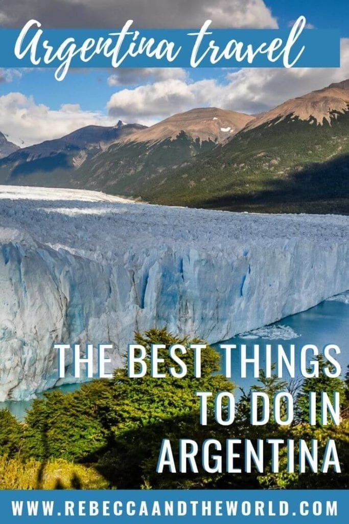 As the second largest country in South America, there are so many things to do in Argentina. Check out this list of 15 of the best Argentina tourist attractions. From walking on a glacier to tasting delicious wines to experiencing Oktoberfest, there's something for everyone in Argentina.   #Argentina #southamerica #buenosaires #salta #peritomorenoglacier #wine #steak #argentinathingstodo #argentinatravel #argentinaitinerary #argentinavacation