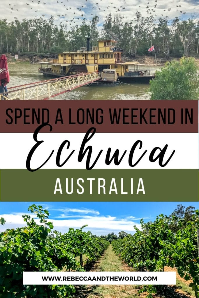 For a small town, there are lots of things to do in Echuca, Victoria. Just a short trip from Melbourne, a weekend in Echuca is a great way to experience rural Australian life. From water sports on the Murray River to a quirky beer museum, here's what to do in Echuca. | #Echuca #VictoriaAustralia #Australia #WeekendTrip #AustraliaTravel #VisitAustralia