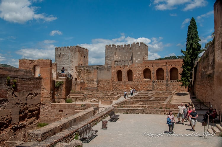 The Alcazaba is the oldest part of the Alhambra in Granada, Spain. This former forts are still in good condition