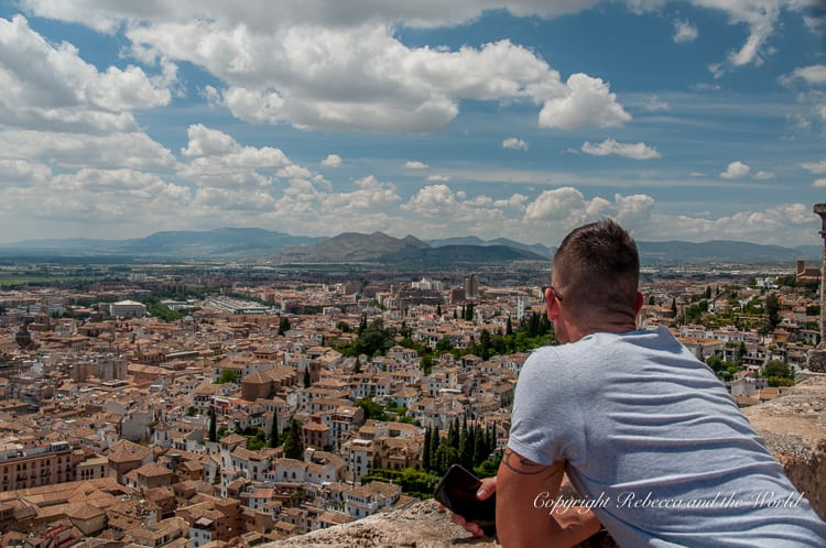 There are great views of Granada from the towers in the Alcazaba, the oldest part of the Alhambra in Spain