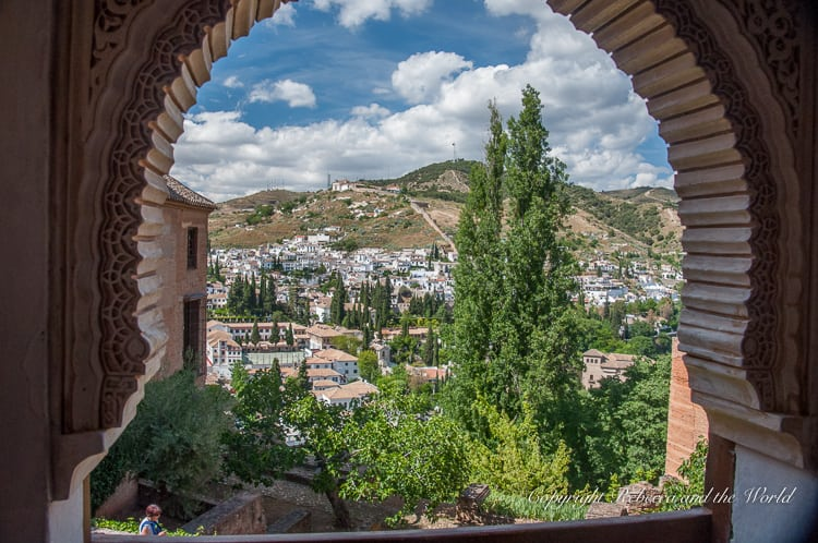 There are so many lovely views from the walls and windows of the Alhambra in Granada, Spain