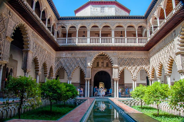 A Seville must see is the Real Alcazar - the palaces and gardens are just stunningly decorated