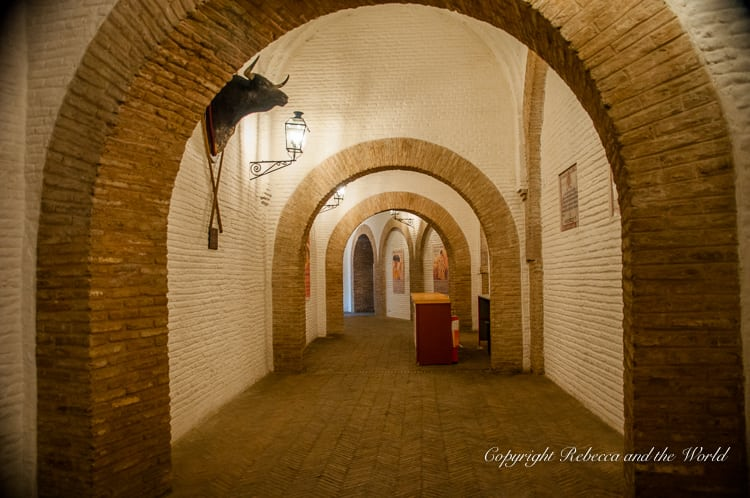 Wander the hallways of the bullfighting ring in Seville, Spain, to learn about some of the great matadors