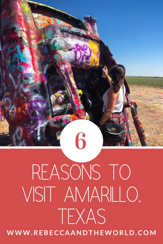 Heading to the Texas Panhandle? Stop for a weekend in Amarillo where you'll find plenty of things to do. Visit Cadillac Ranch, hike in Palo Duro Canyon, explore the city's art deco architecture and try some great food. #amarillo #texas #unitedstates #usa #roadtrip #dallasroadtrips #texasroadtrips #amarillotx #amarillothingstodo