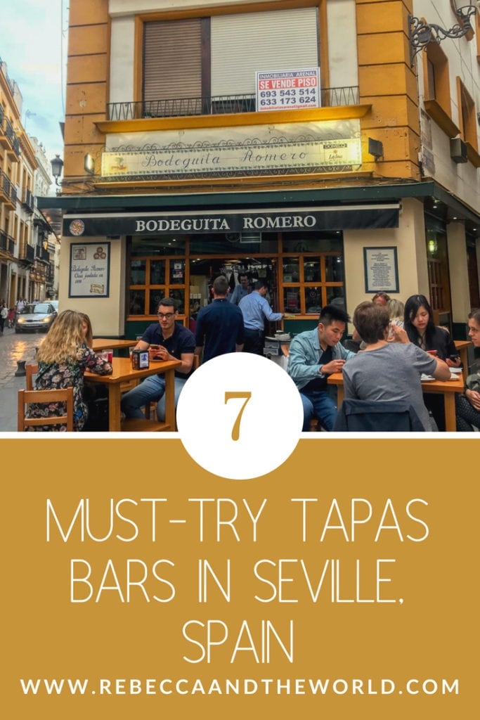 Looking for the best tapas in Seville? We spent our time in Seville eating all the tapas and I have some great recommendations! Here are 7 of the must-visit tapas bars in Seville, both traditional and modern. #seville #spain #andalucia #tapas #spanishfood #foodie #weekendtrip #foodietravels
