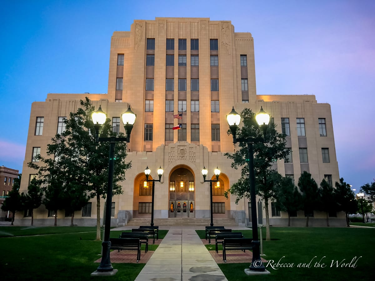 One of the best things to do in Amarillo, Texas, is enjoy the beautiful art deco buildings