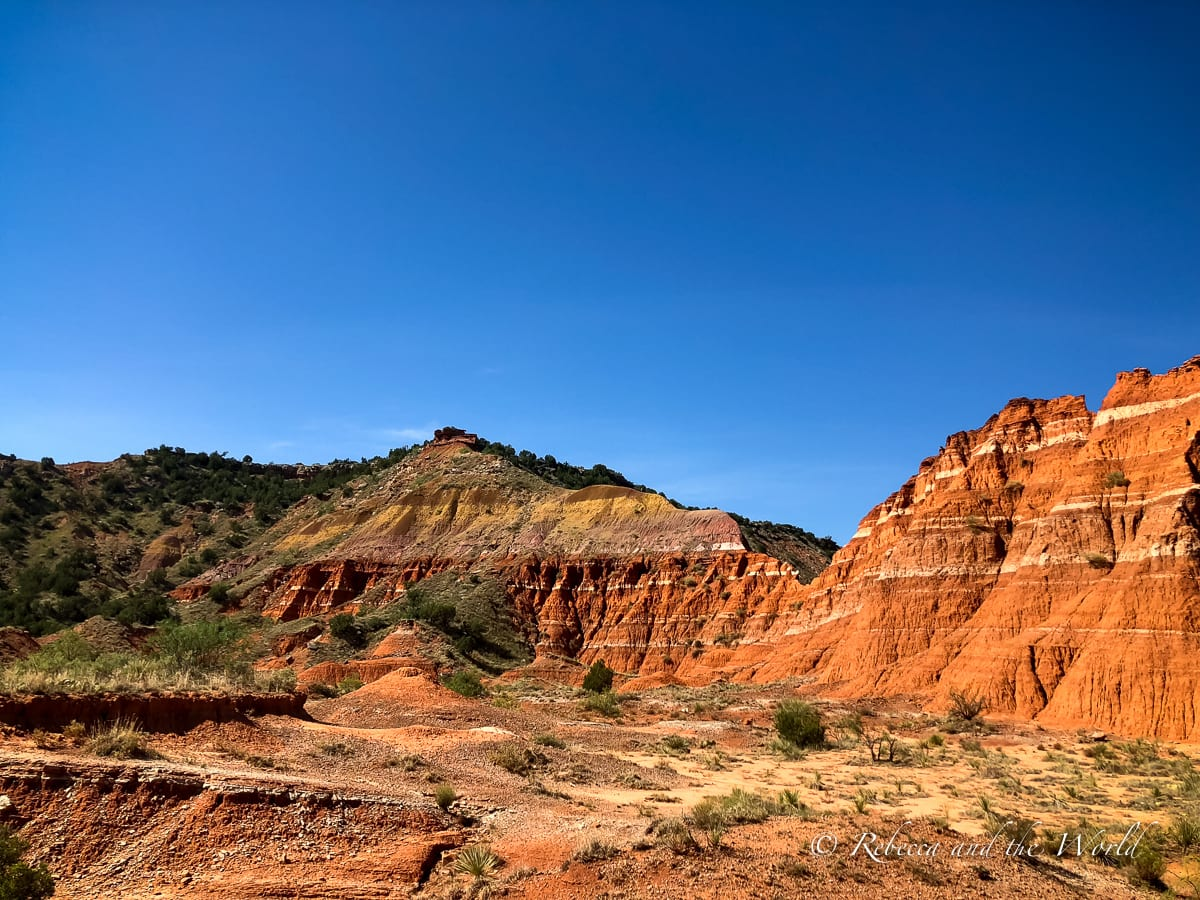 One of the coolest things to do in Amarillo is visit nearby Palo Duro Canyon, the second largest canyon in the United States