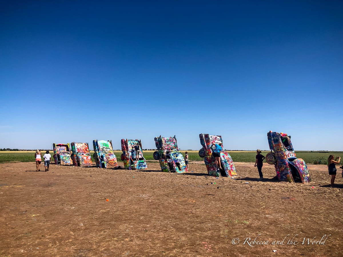 Cadillac Ranch in Amarillo, Texas, is one of the best places to visit in Amarillo