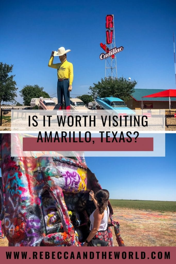 Heading to the Texas Panhandle? Stop for a weekend in Amarillo where you'll find plenty of things to do. Visit Cadillac Ranch, hike in Palo Duro Canyon, explore the city's art deco architecture and try some great food. #amarillo #texas #unitedstates #usa #roadtrip #texasroadtrips #amarillotx #amarillothingstodo