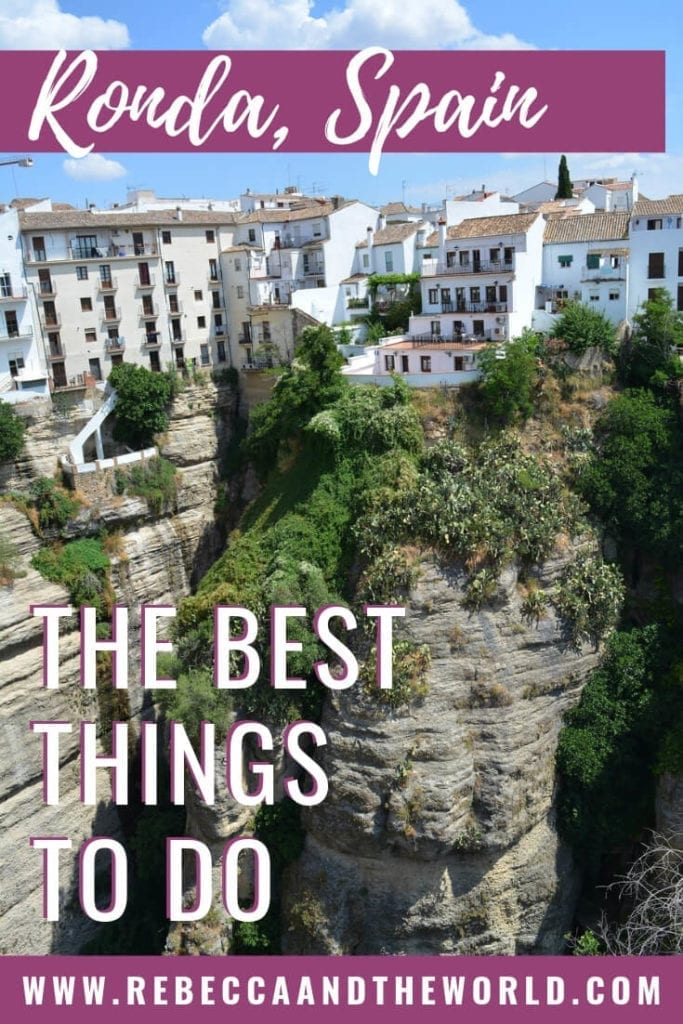 As one of Spain's prettiest cities, there are plenty of things to do in Ronda, in Andalucia. This guide walks you through why you should visit Ronda, what to do in Ronda, and where to eat and sleep. | #ronda #andalucia #southernspain #spain #rondaspainthingstodo