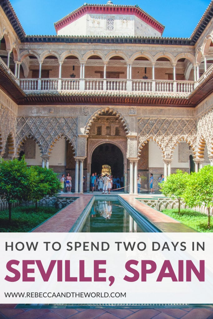 Only have a short time in Seville? You can still fit a lot into two days in Seville. This guide covers the top 10 things to do, including where to eat, what to see and where to sleep. #seville #spain #andalucia #2daysinseville #sevilleitinerary #sevilleguide #travel #travelspain #tapas #spanishfood