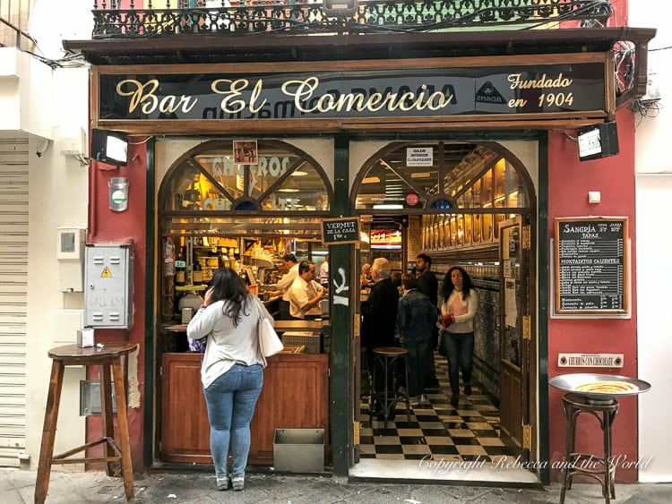 Bar El Comercio in Seville, Spain, is famous for its churros and hot chocolate